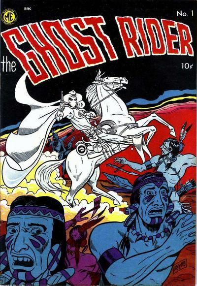 il primo ghost rider del 1950 - cover #1