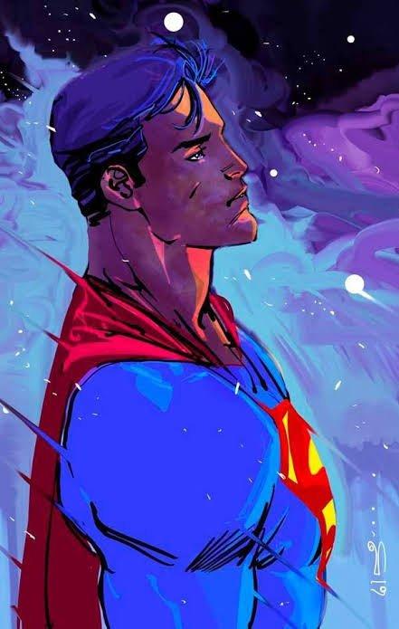 immagine di Superman, disegnato d Carmine Di Giandomenico