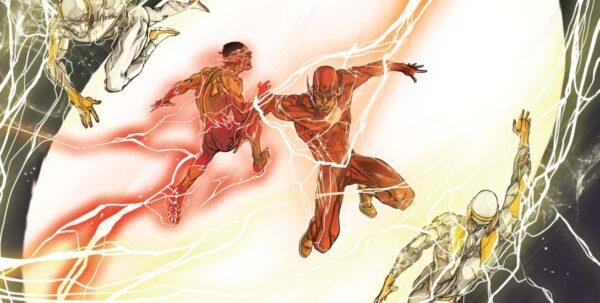vignetta con Flash, disegnata da Carmine Di Giandomenico