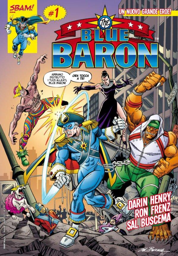 Copertina di The Blue Baron #1 Edito da Sbam! Comics