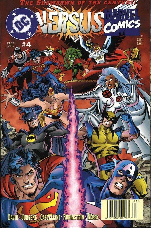 copertian del n. 4 della minis erie DC versus Marvel