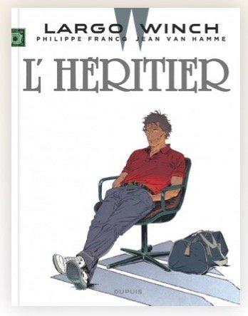 Copertina del volume a fumetti L'HERITIER (ed. DUPUIS)