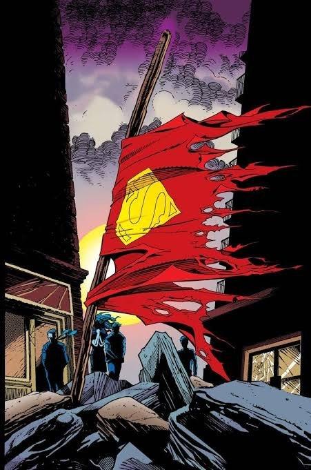 """Storica Copertina del volume """"La Morte di Superman"""""""