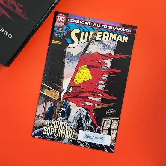 edizione italiana autografata de la morte di superman_edizione Panini