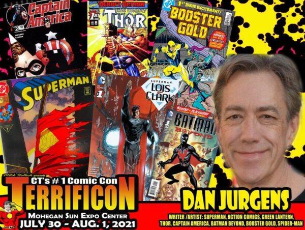 immagine promozionale di Dan Jurgens per il Terrific Con
