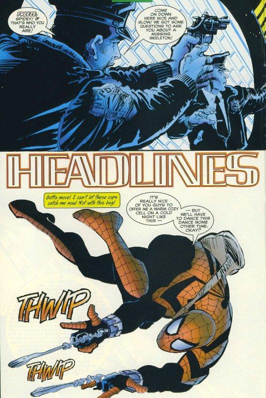 """pagina estratta dalla storia """"Headlines"""" di Spider-Man"""