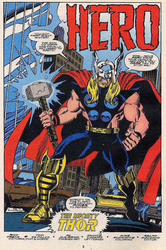 """prima pagina di """"Hero"""" da The Mighty Thor"""