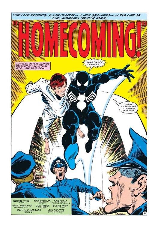 """prima pagina di ASM_""""Homecoming""""_costume nero"""