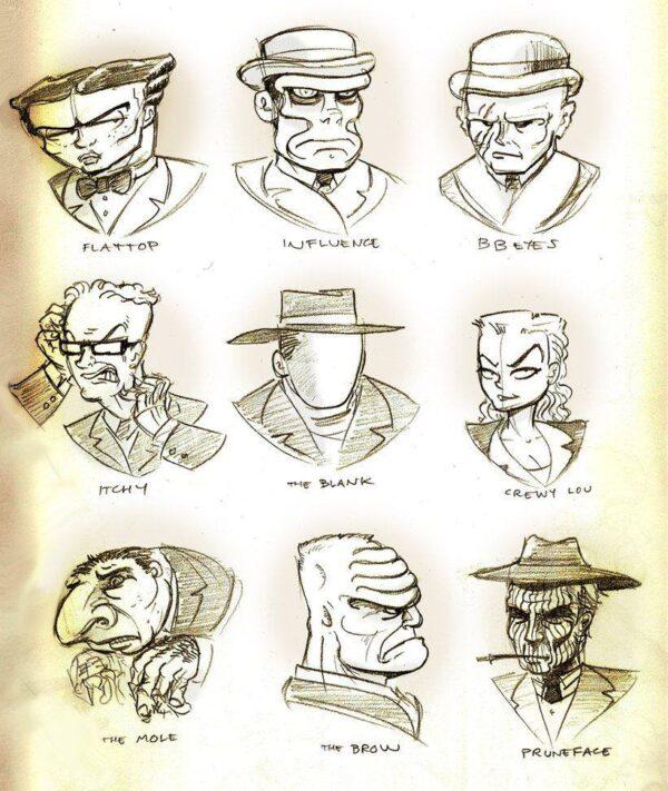 Zoo umano del crimine più torbido e caricaturale, dalla serie DICK TRACY di Chester Gould.