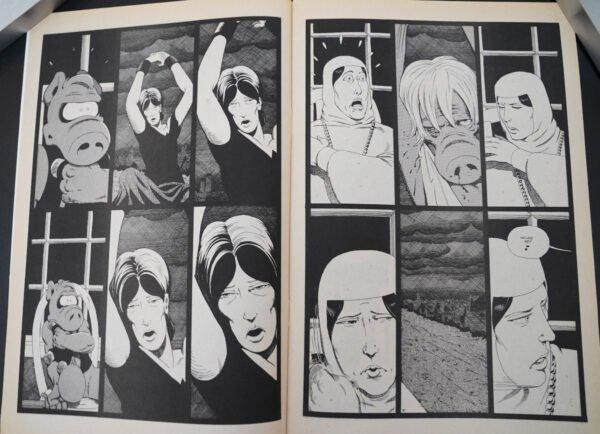 """Due pagine estratte dalla sequenza di storie  di """"Cerebrus 136-150"""""""