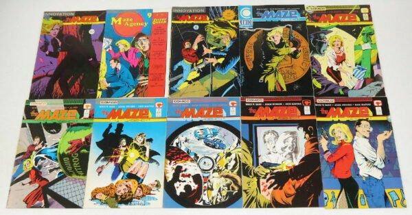HipComic Maze Agency #1-23 VF/NM complete series+annual+special - Copper Age, Comico-RID