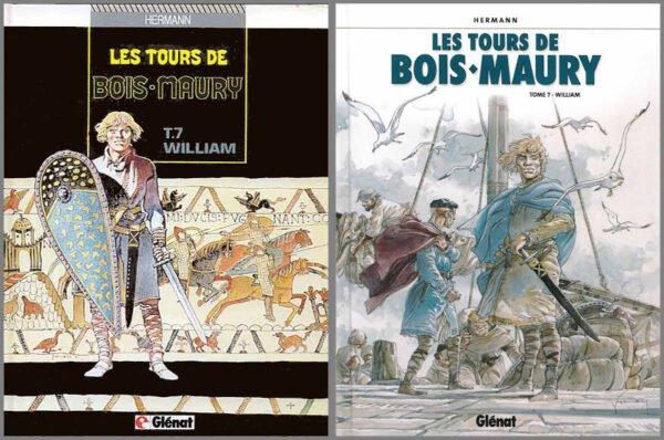 """due copertine de """"Les tours de Bois Maury tome 07 : """"WILLIAM"""""""