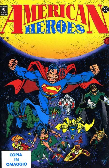 Copertina dell'albo promozionale American Heroes #0 (Play Press)