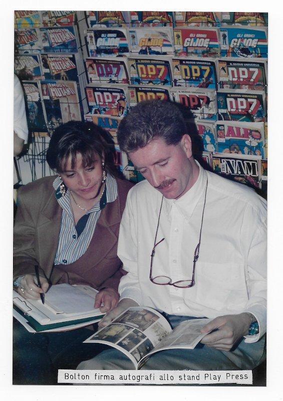 john bolton allo stand play press, nov. 1990 a Lucca Comics