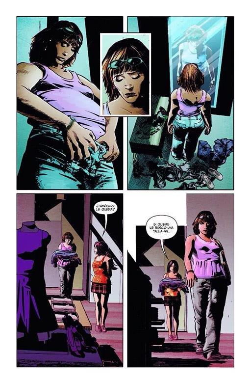 pagina a fumetti estratta Bad Mother,di Deodato Jr