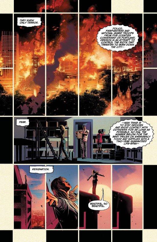 """pagina a fumetti estratta da """"the resistence"""", di mike deodato Jr"""