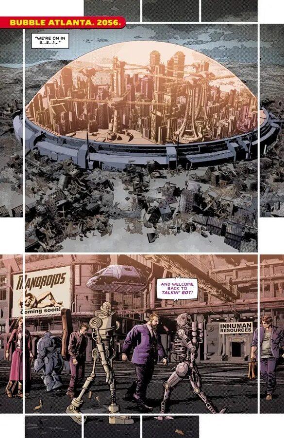 """pagina estratta dalla serie """"Not all robots"""""""