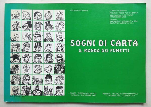 "La copertina del catalogo della mostra ""Sogni di carta"", Messina, dic. 1990-gen. 1991"
