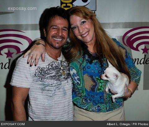 John Romita JR con la moglie-foto