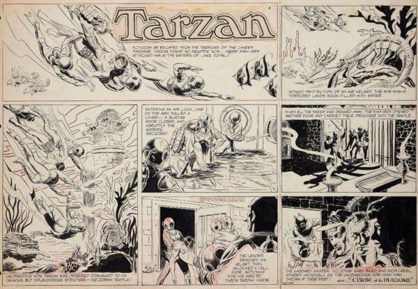 """Strip_Tarzan. estratto della mostra """"STRIP! LA GRANDE AVVENTURA DEL FUMETTO AMERICANO"""""""