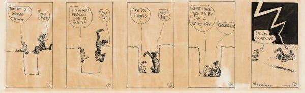 """Strip: herriman krazy kat daily. estratto della mostra """"STRIP! LA GRANDE AVVENTURA DEL FUMETTO AMERICANO"""""""
