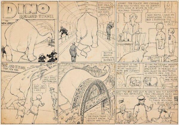 """Strip: mccay dino. estratto della mostra """"STRIP! LA GRANDE AVVENTURA DEL FUMETTO AMERICANO"""""""