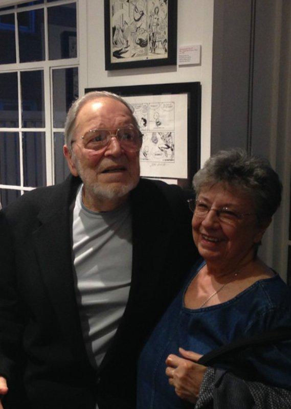 foto del mitico John Romita Senior - 92 anni con la moglie