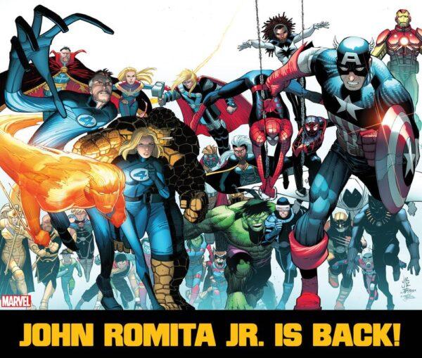 immagine promozionale per il ritorno in Marvel di John romita JR