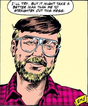 uno stranito Steve Englehart, nell'ultima vignetta dell'albo FANTASTIC FOUR #333.